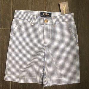 NWT Boys Polo Ralph Lauren checkered shorts size 4